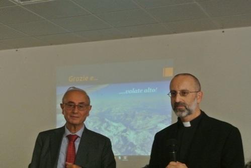Prof. Franco Marini e Prof. Don Filippo Morlacchi
